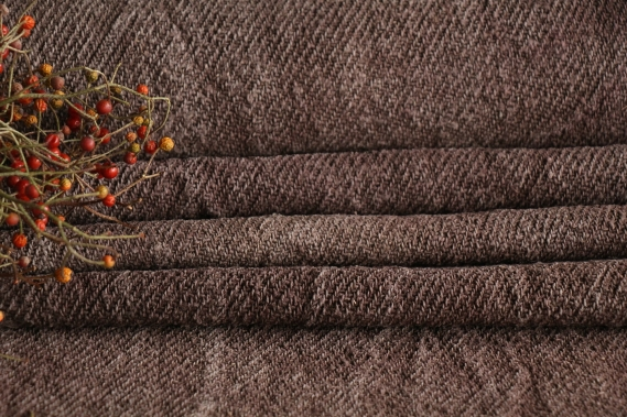 antique dyed french linen roll autumn mood 3.60y T 863