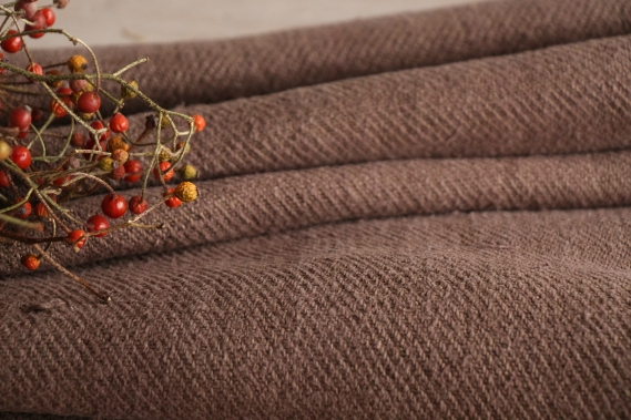 antique dyed french linen roll autumn mood 2.07y T 694