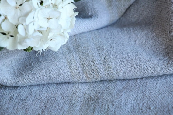 HP 227 antique dyed linen grain sack grainsack light grey caramel