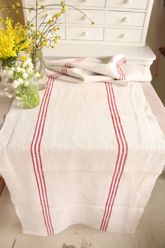 handmade antique linen table runner festive table D 998