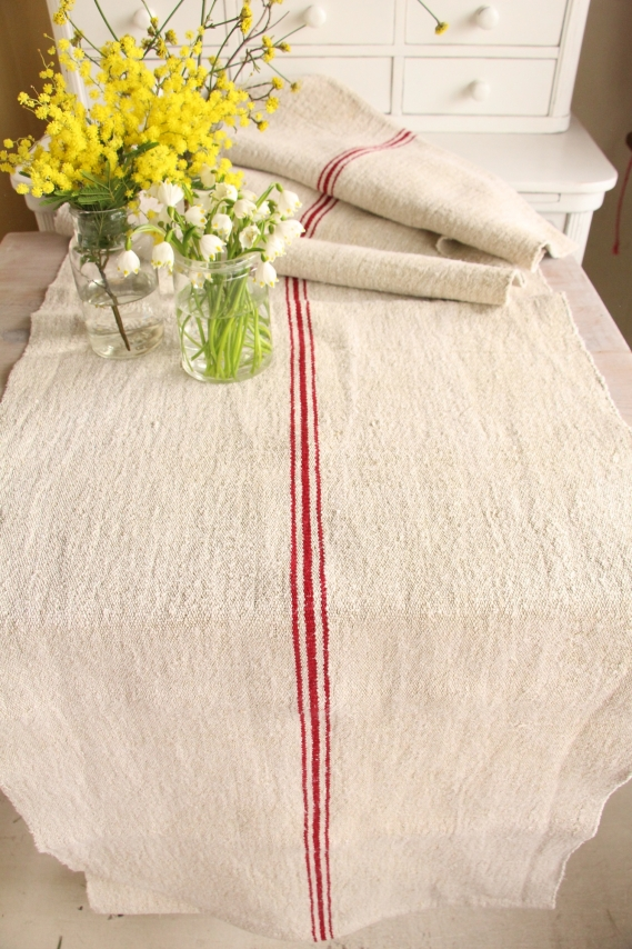 handmade antique linen table runner festive table D 996