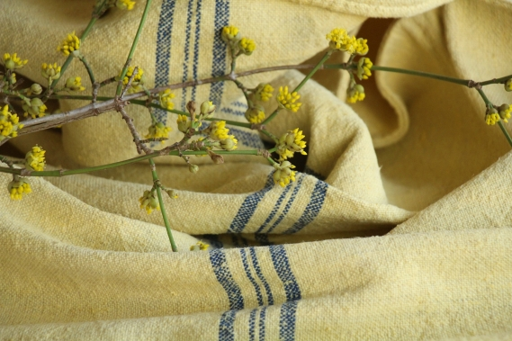 antique charming dyed linen grain sack colors of spring IP 890