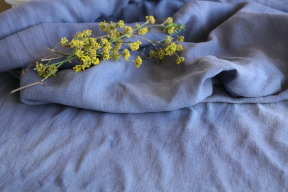 antique dyed cotton linen roll wedding present 12.02y T 636