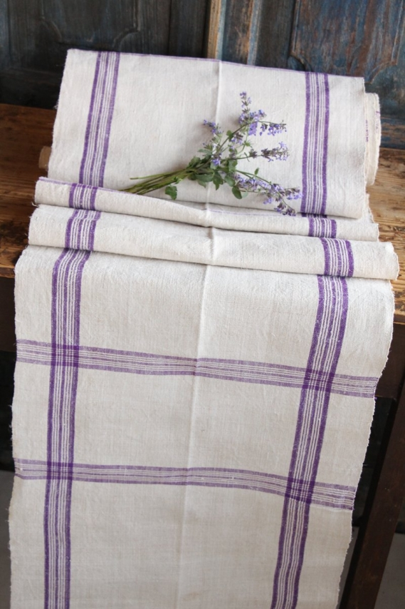 rare antique french linen Roll TP 11 lilac