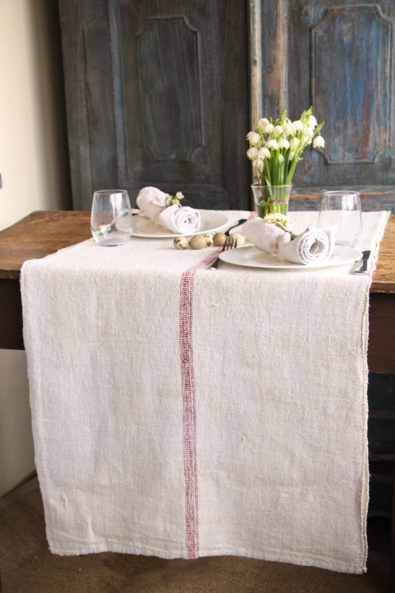 SEWING SERVICE: this listing is for ordering your TABLERUNNER made from our grain sacks