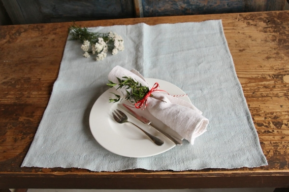 handsewn set of 6 NAPKIN TOWEL D 248