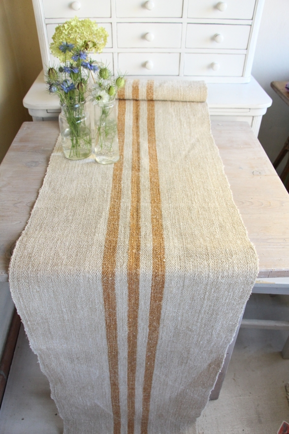 handmade antique linen table runner festive table D 868 A