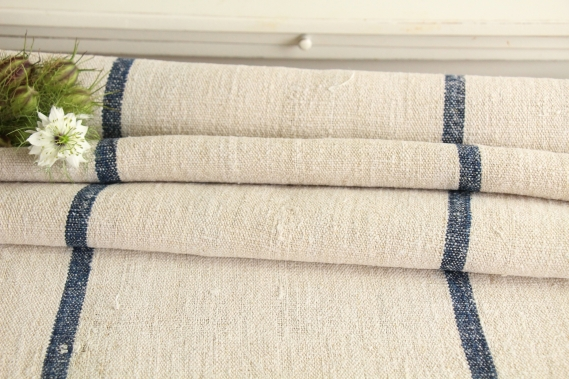 antique french linen roll 3.49y maritime colors TW 773