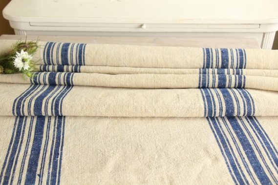 antique french linen roll 2.73y maritime colors TW 769