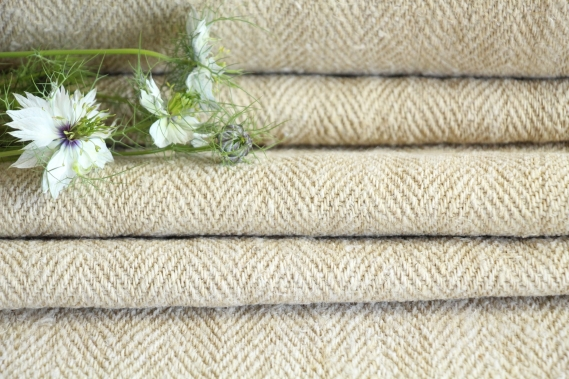 antique french linen roll 2.62y desert colors TW 776
