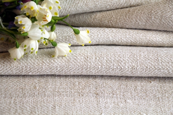 TW 577 antique plain linen roll greyish oatmeal washed