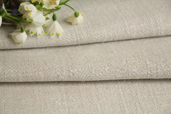 TW 576 antique plain linen roll greyish oatmeal washed