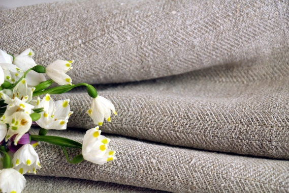 TW 553 antique plain linen roll greyish oatmeal washed