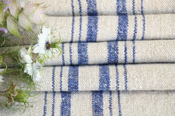 antique french linen roll 8.31y wedding table linen TW 795
