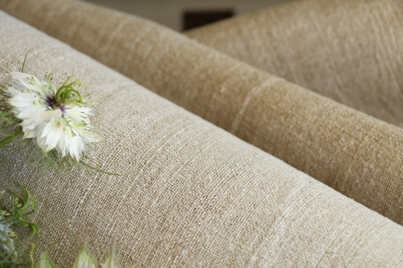 antique french linen roll 9.84y autumn mood TW 812
