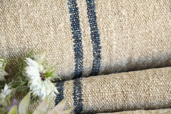 antique french linen roll 6.99y wedding table linen TW 823