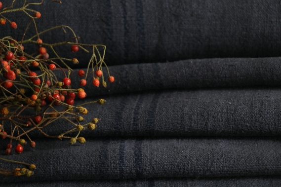 antique dyed french linen roll autumn mood 6.45y TP 838