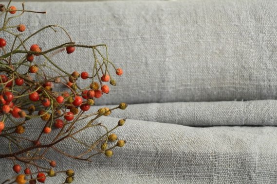antique dyed french linen roll autumn mood 8.31y TP 833