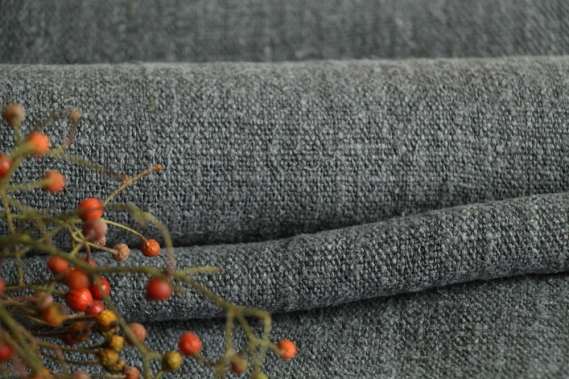 antique dyed french linen roll autumn mood 3.39y TP 835