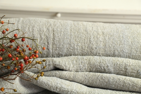 antique dyed french linen roll autumn mood 5.79y TP 834