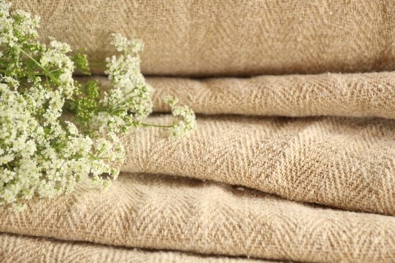 TW 592 antique linen roll dusty earth colored washed