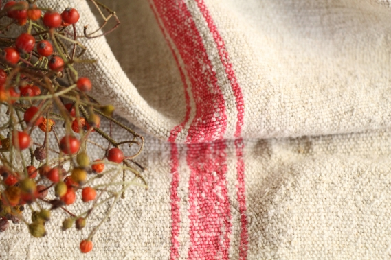 antique french linen grainsack grain sack christmas gift IX 652